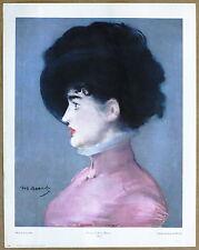Edouard Manet Portrait of Irma Blumer Vintage Original  Lithograph 1960