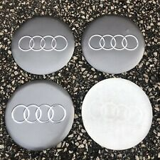 4 Sticker) 58mm Audi Silver Wheel Centre Cap Hub Caps Sticker Logo UK A 1 2 4