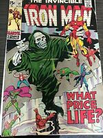 The Invincible Iron Man What Price Life? #19 Marvel Comics Group 1969