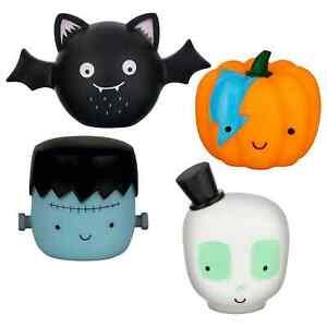 Halloween Spooky Dog Toys 4 Pack Halloween Vinyl Pumpkin Bat Frankenstein Skull