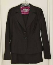Ann Taylor Charcoal Gray Wool Blend 3 Piece Suit: blazer, pants, skirt. Size 2.