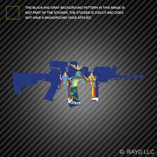 New York State Shape AR15 Sticker Decal AR-15 M16 M-16 NY