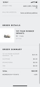 Adidas Yeezy Foam RNNR Runner MX Cream Clay Size 8K GY1160 TRUSTED SELLER