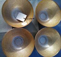 4 Ackam Turkish  Gold Glittery Elegant Plates-dishes 4 Bowl