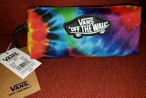 Vans OTW Rainbow Pouch Pencils Pens Tie Dye Case Stash Bag Accessory Travel NWT