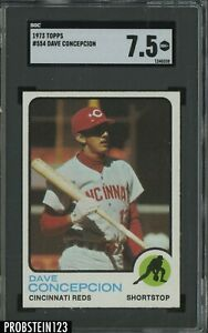 1973 Topps #554 Dave Concepcion Cincinnati Reds SGC 7.5 NM+