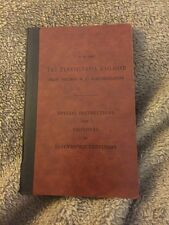 1928 Pennsylvania Railroad Book Instructions Employees Electrified Territory