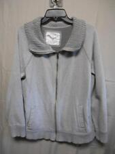 Sonoma zip front gray long sleeve jacket women's size x-large