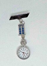 TARDIS metal charmed Watch nurse fob pin uniform pocket DR WHO
