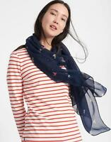 Joules Wensley Scarf in French Navy Dog in One Size