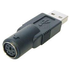 USB Adapter A Stecker auf PS/2 Buchse für Maus Tastatur PS2 Kupplung schwarz