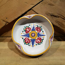 New listing Vintage Colorful Clay Ashtray with Hispanic Floral Design - Swanky Barn
