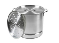 Seafood Steamer Pot Qt Aluminum Tamale Steam Cooking Cookware Boil Crab Stockpot