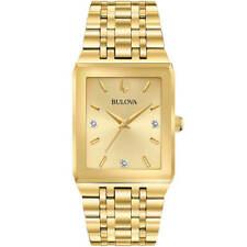 Bulova 97D120 Men's Futuro Quartz Yellow Gold Steel Diamond Watch