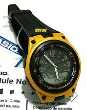 Casio AW-80-2BV Sports Analog Digital Databank World Time Black Rubber Men Watch