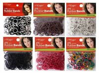 RUBBER BANDS 275-pcs BLACK/BROWN/AST/WHITE/RED- Magic Collection - GOOD QUALITY