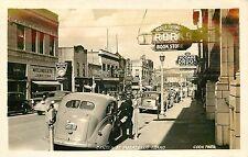 Idaho, ID, Pocatello, Center Street 1940's Real Photo Postcard