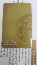 Starbucks Korea New Gold Membership Card
