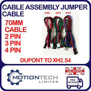 Cable Assembly Jumper Cable 70cm Dupont to XH2.54 2 Pin, 3 Pin, 4Pin