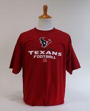 Houston Texans T Shirt Football Sz L Red Critical Victory Basic Tee NFL Texas TX