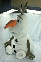"Disney Store Original Frozen Olaf Snowman Soft Plush 20"" Figure Stuffed FS EUC"