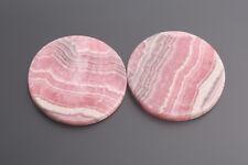 rhodochrosite flat round 18 mm Pink-White/Box