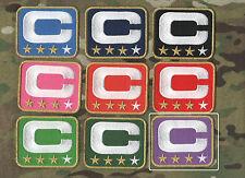 NFL TEAM LEADER JERSEY CAPTAINS PATCH THREE-STAR 3-STAR PURPLE CAPTAINS C-PATCH