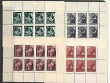 Croatia WW2 1945 - complete set in mini sheets MNH !