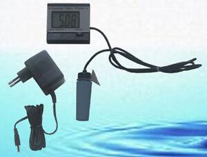 Ph-Messgerät Meter Schwimmsonde Koi-Teich und Aquarium + Kalibrierlösung