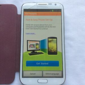 Samsung Galaxy Note 2 ATT Tested Works Has been reset to factory settings AS IS