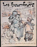 """L'Assiette au Beurre #28 """"Les Enmerdeurs"""" 1901 Adolphe Willette Satire Art"""