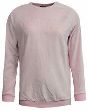 Puma Velour Womens Sweatshirt Velvet Crew Track Top Jumper Pink 853292 01 A96D