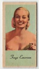 American Peerless Weighing Weight Machine Card US Film &TV Actress Faye Emerson