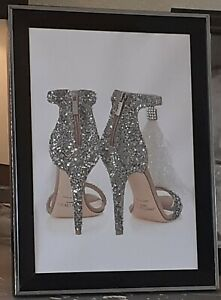 HIGH HEEL GLAM SHOES NO FRAME EMBELLISHED WITH GLITTER AND DIAMANTES PICTURE