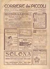 CORRIERE DEI PICCOLI 12 MARZO 1911 anno III NUMERO 11 CON SOVRACOPERTINA
