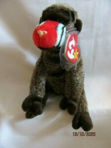 TY BEANIE BABY CHEEKS - BABOON MONKEY - MINT - RETIRED WITH TAGS
