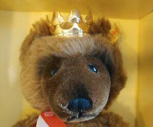 Steiff Berlin Bear mint in box w/ 24k Gold Crown USA Berliner Bar Teddy 1985