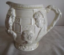LANCASTER SANDLAND ~ CREAM  ROUNDED JUG ~ WITH DICKENSIAN CHARACTERS ~ 13CM