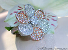 Exquisit/Feminin:  Brillanten Ring im Blumendesign 2,36 ct. w-si RG/WG585 5.900€