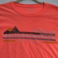 Magellan Outdoors Men's Short Sleeve T Shirt XL Orange Live to Explore Crewneck