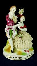 COURTING COUPLE LACE FIGURINE