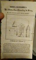 1836 MEDICO CHEVALLEY DE RIVAZ DA CASAMICCIOLA ISCHIA INVENTORE STUFA PER BAGNI