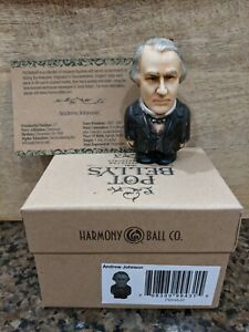 Harmony Kingdom Ball Historical Pot Belly Retired Andrew Johnson