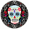18 x Halloween Day of the Dead Large Banquet Size Plates Sugar Skull Dia Muertos