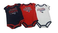 New England Patriots NFL Baby Infant Girls 3 Piece Creeper Bodysuit Combo Set