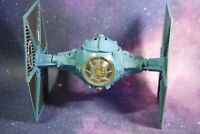 VINTAGE STAR WARS COMPLETE BLUE BATTLE DAMAGED TIE FIGHTER KENNER WORKS!
