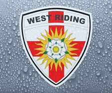 West Riding of Yorkshire County Shield-Imprimé Couleur Vinyle Autocollant-PRN 1064