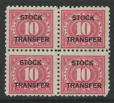 RD27, 10 cent Stock Transfer, Perf. 10 Block of 4