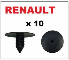 10 x Renault Wheel Arch Liner Splash Guard Lining Plastic Fir Tree Clips
