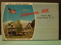 Vtg Sagamore Hill Oyster Bay Long Island NY Souvenir Postcard Foldout Roosevelt